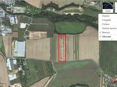 GARANT REAL predaj pozemok na priemyselné účely 45000 m2, s možnosťou delenia, Záborské, okr. Prešov